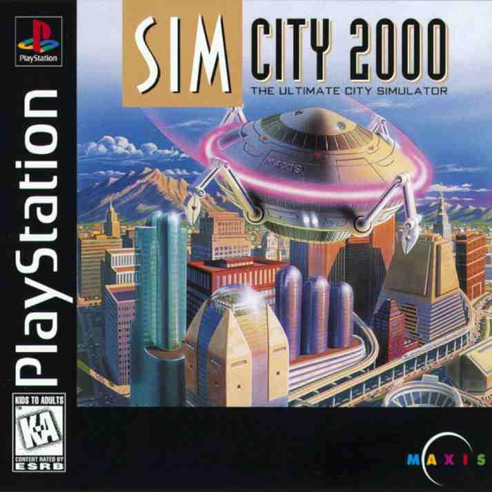 Sim City 2000- Playstation PS1 (Refurbished)