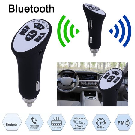 Car Wireless Hands Free Aux Stereo Audio Music Bluetooth Receiver Fm Adapter
