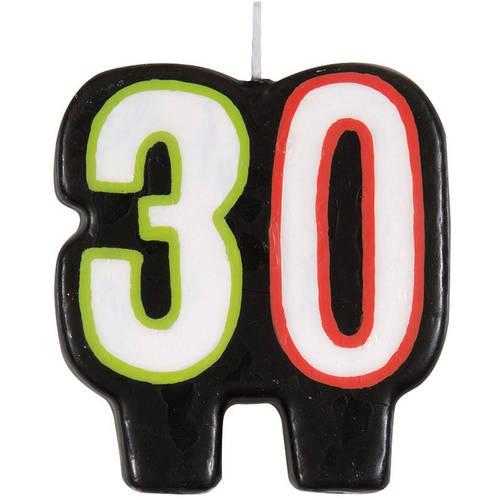 Birthday Cheer 30th Birthday Candle