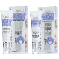 Advanced Clinicals 5-in-1 Multi Correction Anti-Aging Eye Serum w (Two - 2oz)