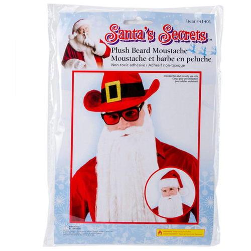 Santa Claus White Plush Beard One Size