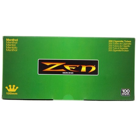 1 Box - 200pc 100mm Menthol Cigarette Tubes..., By Zen Ship from