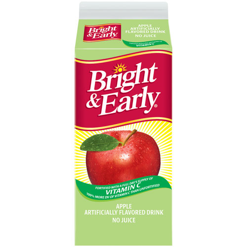 Bright & Early Apple Flavored Drink, 59 fl oz