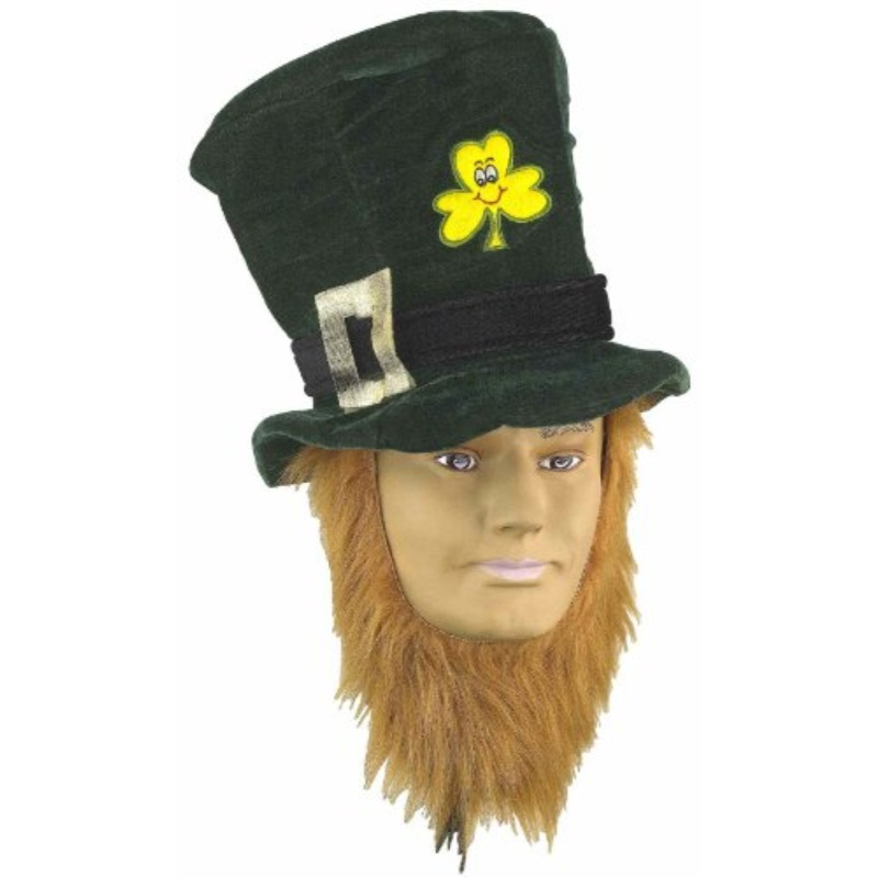 Forum St. Patrick's Day Costume Party Accessory Irish Hat w/ Beard, Green, One Size