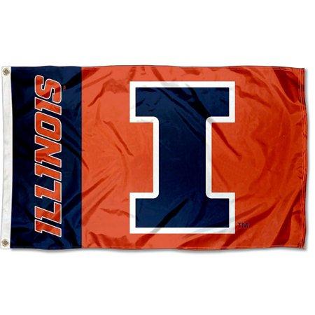 University of Illinois Fighting Illini Flag Illinois Fighting Illini Pennant