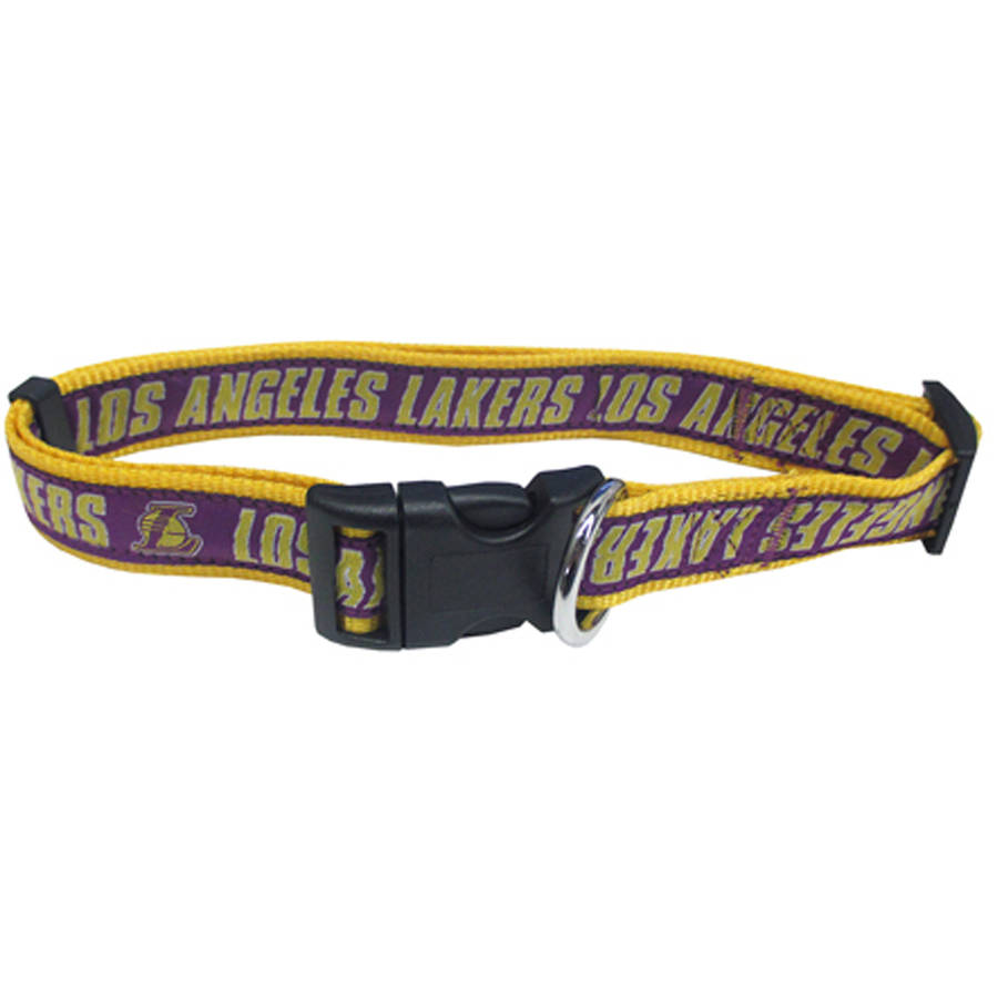 Pets First NBA Los Angeles Lakers Pet Collar, 3 Sizes Available, Sports Fan Dog Collar
