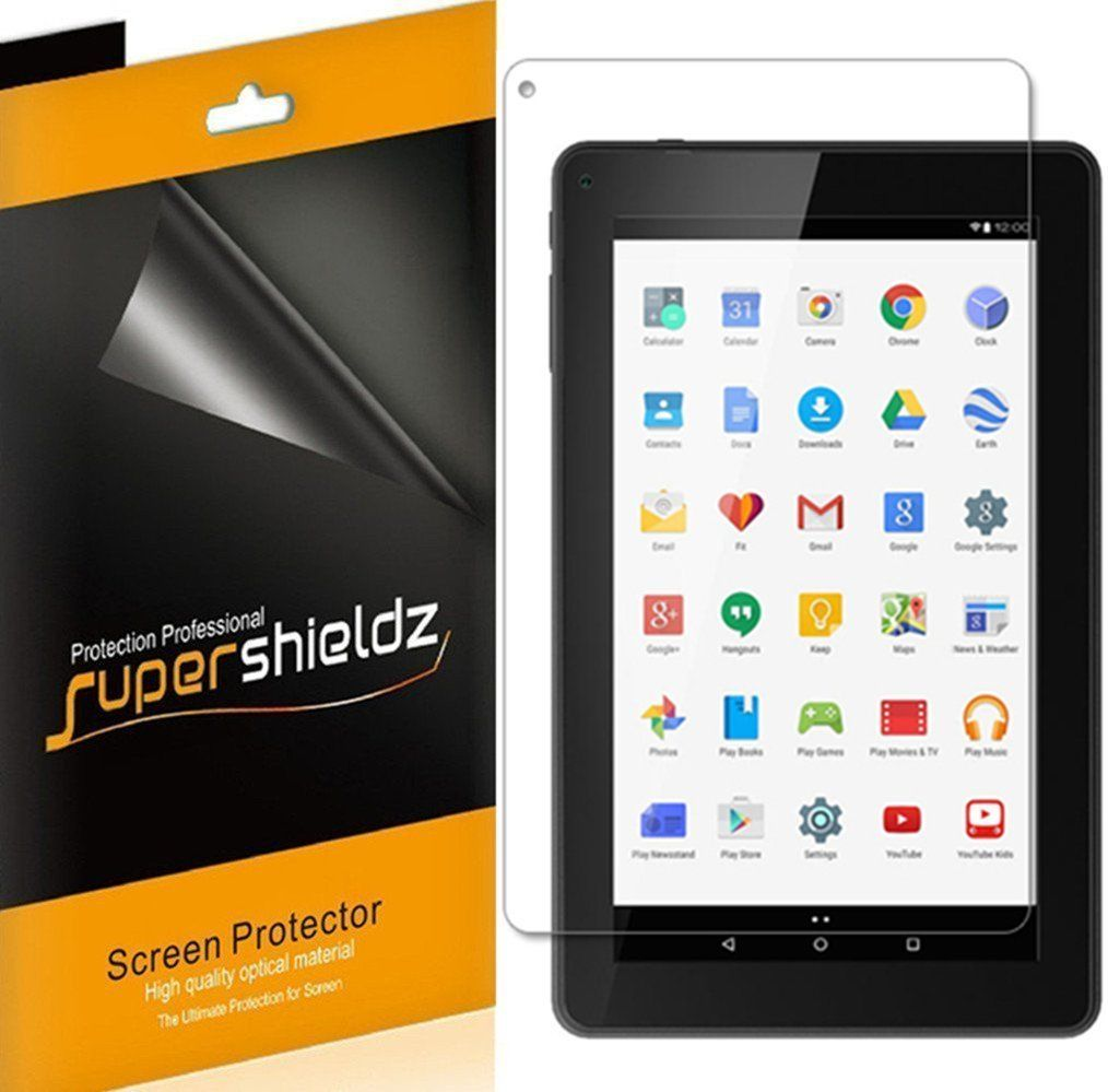 "[3-pack] Supershieldz Polaroid 9"" HD Tablet (P909) Screen Protector, Anti-Bubble High Definition (HD) Clear Shield"
