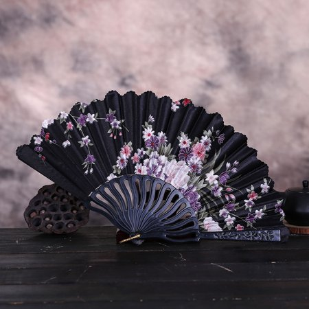Best Chinese Style Dance Wedding Party Lace Silk Folding Hand Held Flower