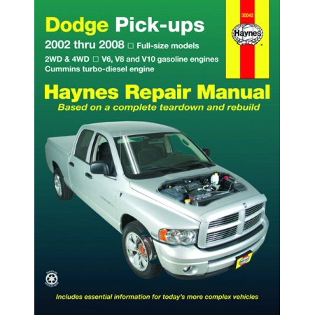 Haynes Repair Manual Dodge Pick Ups  2002 Thru 2008