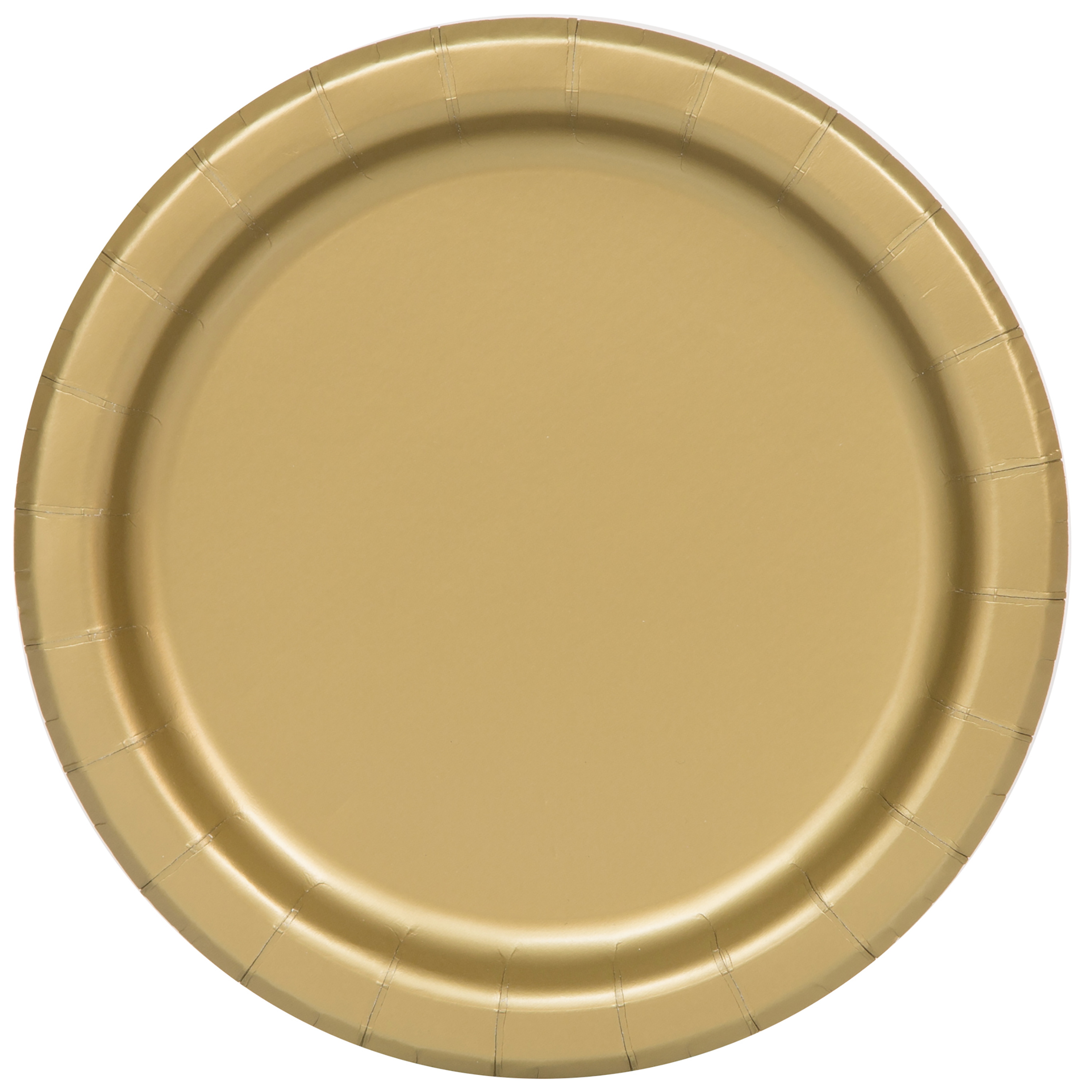 Paper Plates, 9 in, Gold, 55ct