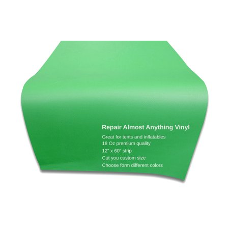 - Pogo High Quality Vinyl Strip for Inflatable Repair, Commercial Grade (Light Green)