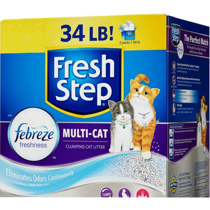 Fresh Step Multi Cat Scented Cat Litter With The Power Of Febreze