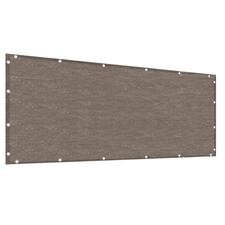 Alion Home Mocha Brown Elegant Privacy Screen For Backyard Deck, Patio, Balcony, Fence, Pool, Porch, Railing. 3' x (Best Plants For Screened Porch)