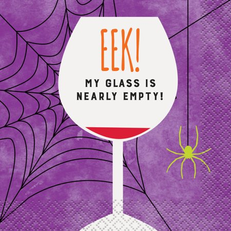 EEK Empty Glass Halloween Cocktail Napkins, 5 in, 16ct](Funny Halloween Cocktails)