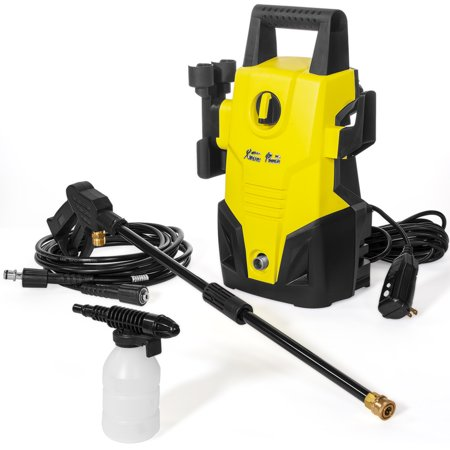 XtremepowerUS Electric 1300 PSI 1.2 GPM Compact Lightweight Pressure Washer With Hose Soap