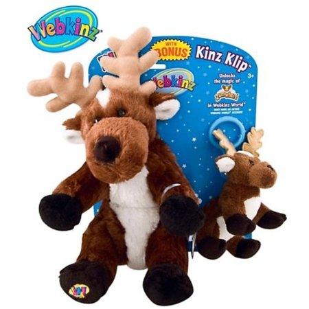 Webkinz Plush Reindeer With Bonus Kinz Klip