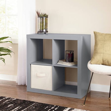 Better Homes And Gardens Square 4 Cube Organizer Multiple Colors Gray New Ebay
