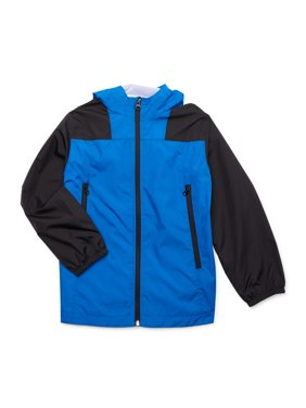 Wonder Nation Boys Color Blocked Windbreaker Jacket, Sizes 4-18 & Husky