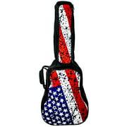 ChromaCast USA Flag Graphic Acoustic Guitar Soft Case, Padded Gig Bag