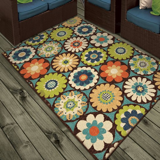 Orian Rugs Indoor Outdoor Bright Kilbury Multi Colored