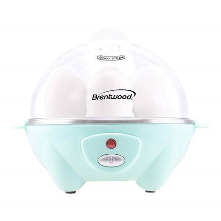 Brentwood TS-1045BL Electric 7 Egg Cooker with Auto Shut Off, Blue