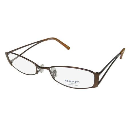 New Gant Gw Jani Womens/Ladies Designer Full-Rim Brown Fashionable Modern Vision Care Frame Demo Lenses 51-18-135 Eyeglasses/Eye (Brown Glass Lens)