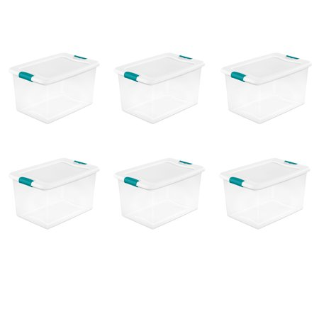 Sterilite 64 Qt. Latching Box White Set of 6