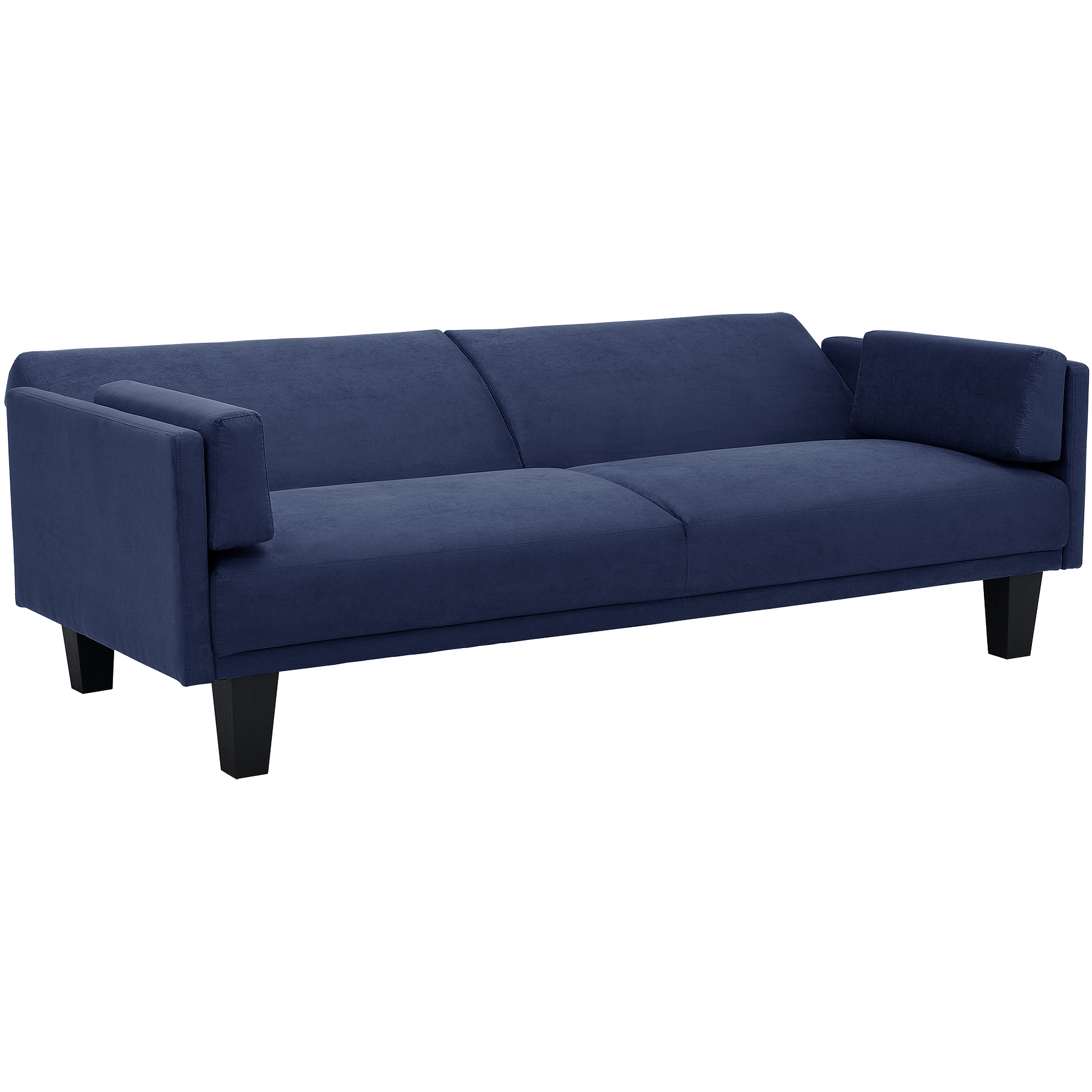 metro futon sofa bed blue