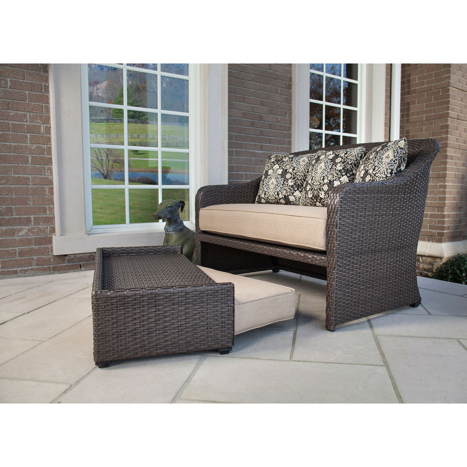 Swell Hanover Outdoor Furniture Langdon Hills 2 Piece Cuddle Set Ncnpc Chair Design For Home Ncnpcorg