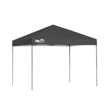 Expedition EX80 One Push 8 x 10 ft. Straight Leg Canopy - Charcoal