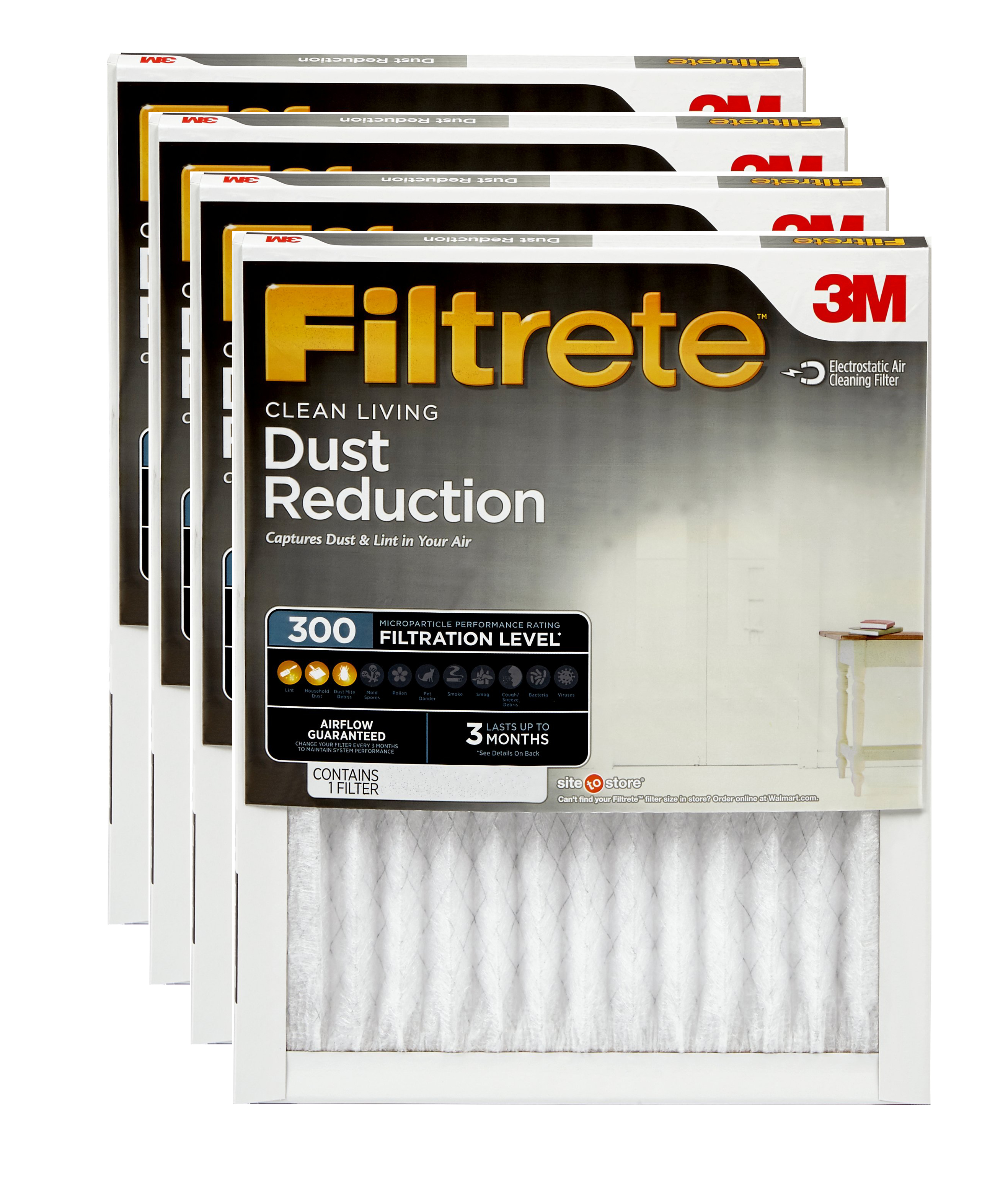 Filtrete 122x122x12, Clean Living Dust Reduction HVAC Furnace Air