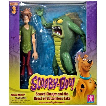 Scooby Doo Series 3 Scared Shaggy & The Beast of Bottomless Lake Action Figure 2-Pack (Shaggy And Scooby Doo Halloween Costumes)