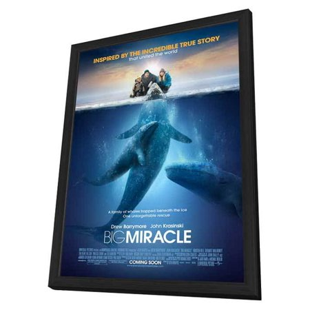 Big Miracle 11 x 17 Movie Poster - Style A - in Deluxe Wood Frame