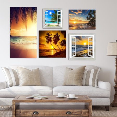DESIGN ART Designart - Tropical Collection - Coastal Wall Art set of 5 pieces - (Kjl Design)
