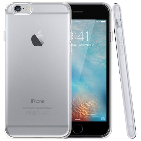 Apple iPhone 6S Case, [Clear] Slim & Flexible Anti-shock Crystal Silicone Protective TPU Gel Skin Case Cover