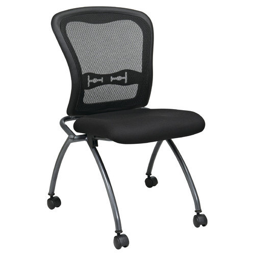 Office Star Products Proline II Mid-Back Deluxe Armless Folding Office Chair (Set of 2)