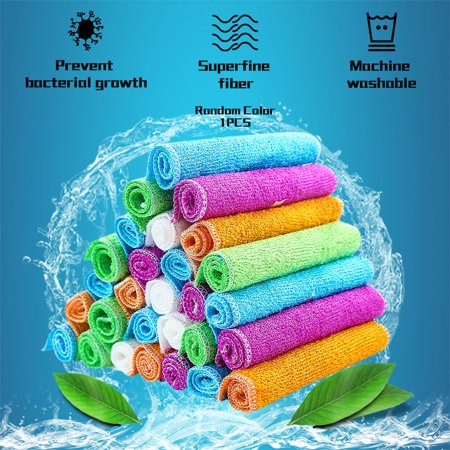 Bamboo Dish Cloths Cleaning Cloth and Dishcloths Sets Super Absorbent Towels - image 7 of 7
