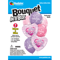 Party Supplies - Pioneer - 7 ct.Balloon Bouquet-in-a-Box Set - Princess 82463