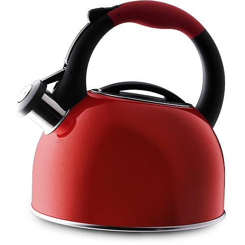 Farberware Red Stainless Steel 2-Quart Tea Kettle ...