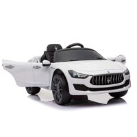 Best Ride On Cars 12V Maserati Ghibli Model Car - White