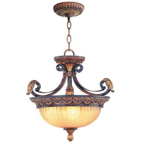 Livex Lighting Villa Verona 3 Light Convertible Chain Hang/Ceiling Mount