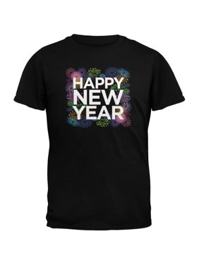 9756acce6a7 Product Image Happy New Year Fireworks Black Adult T-Shirt