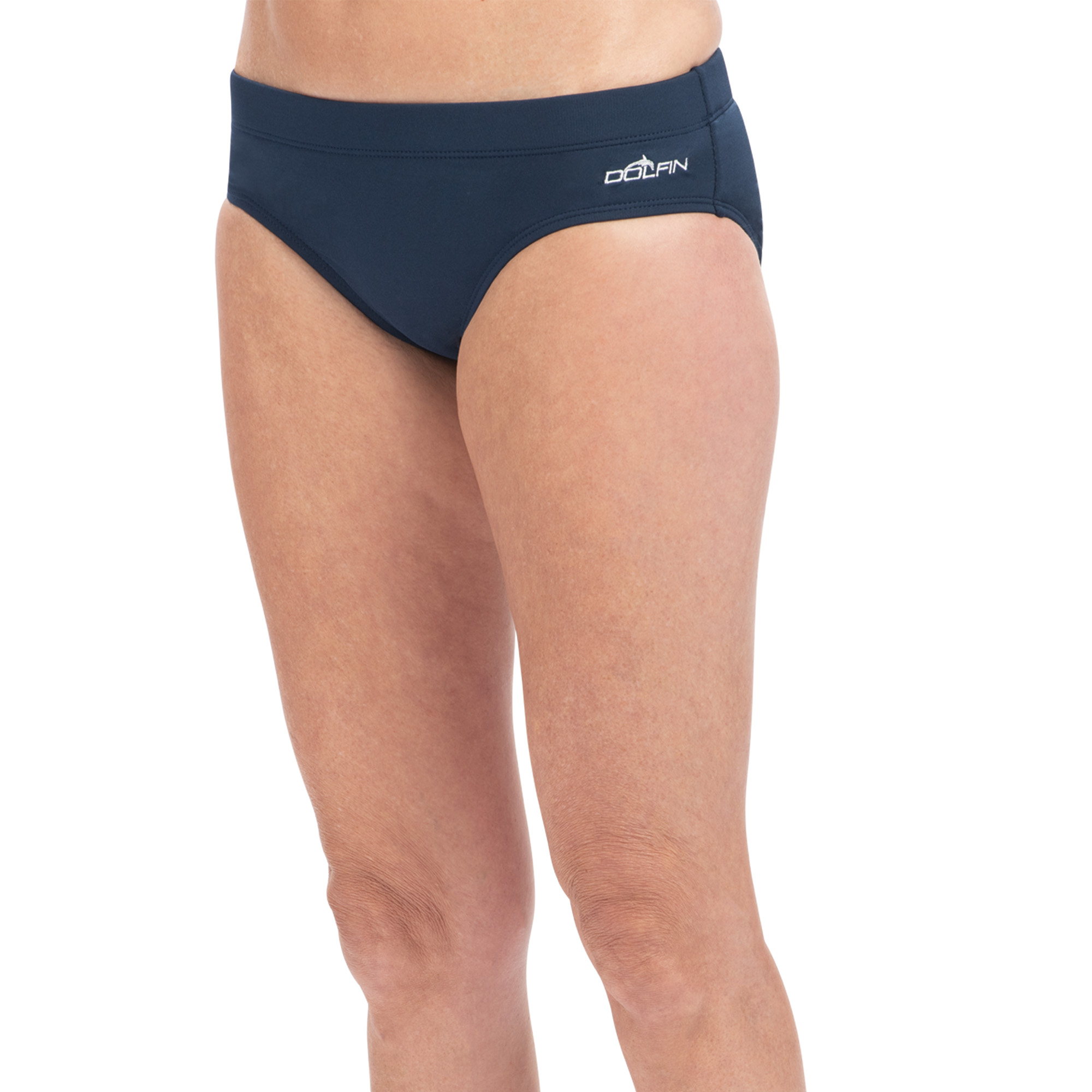 Aquashape Contemporary Cut Brief Swimsuit Bottom in Navy