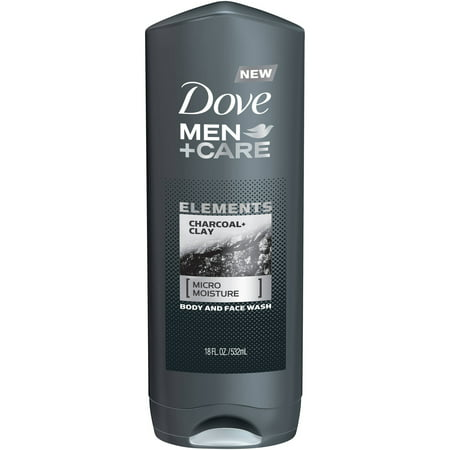 (3 pack) Dove Men+Care Elements Charcoal and Clay Body Wash, 18