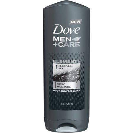 (3 pack) Dove Men+Care Elements Charcoal and Clay Body Wash, 18 oz