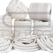 Golberg 100% Natural Cotton Rope - 5/32, 3/16, 7/32, 1/4, 5/16, 3/8, 1/2, 5/8, 3/4, 1, 1-1/4, and 1-1/2 Inch Diameters - Twisted White Cotton Rope - Several Lengths to Choose From