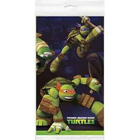 Plastic Teenage Mutant Ninja Turtles Table Cover 84 X 54