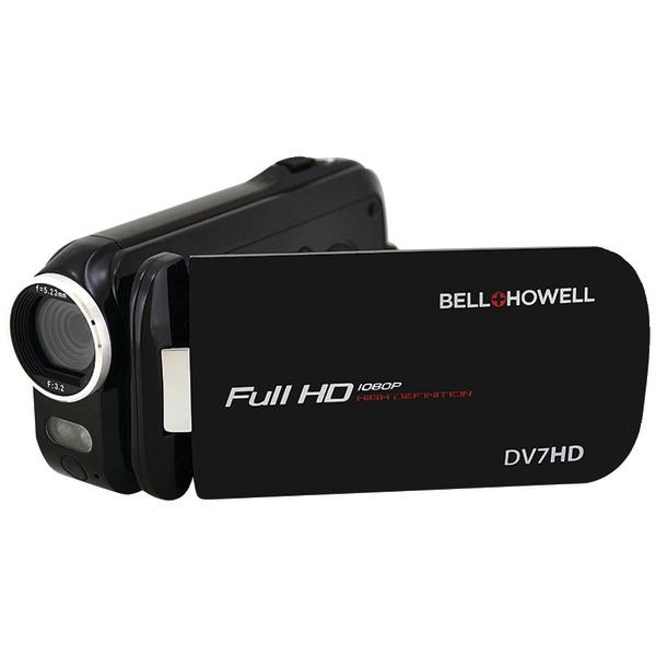 "Bell+howell Dv7hd Digital Camcorder - 3"" - Touchscreen Lcd - Full Hd - 16:9 - 16 Megapixel Image - H.264/mpeg-4 Avc, Avchd - 60x Digital Zoom - Electronic [is] - Video Light, Microphone, (dv7hd-bk)"