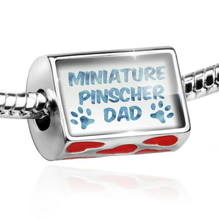 Bead Dog & Cat Dad Miniature Pinscher Charm Fits All European Bracelets