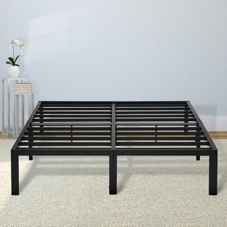 GranRest 14'' Durable Steel Slat Metal Platform Bed